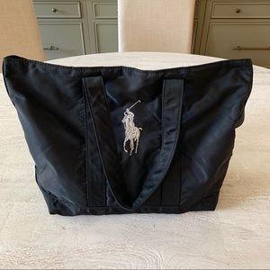 Ralph Lauren Embroidered Nylon Bag